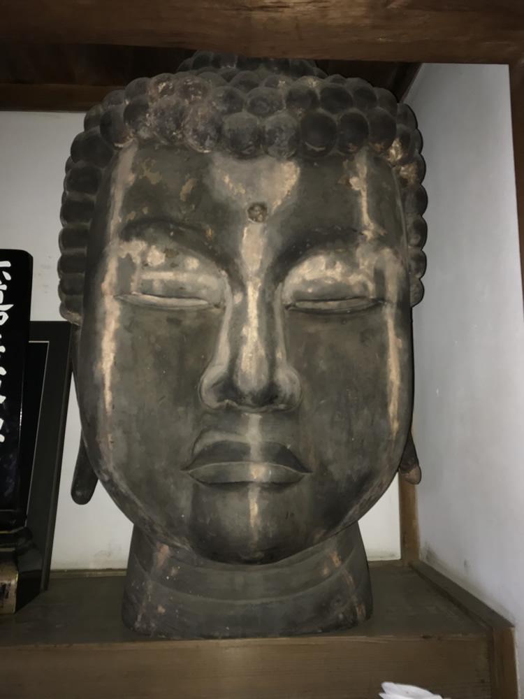 元大慈寺本尊阿弥陀仏の仏頭